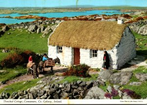 Ireland Co Donegal Connemara Thatched Cottage