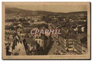 Sort Old Postcard Blick in die Simeonstrasse