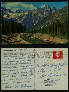Rogers Pass-BC, New Westminster (slogan) 1964