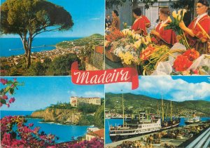 Portugal Postcard Madeira different aspects&sites landscapes native people ship