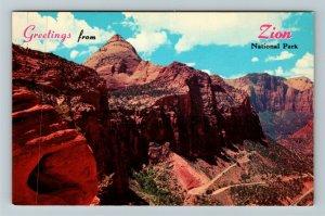 Zion UT- Utah, General Greetings, Zion National Park, Chrome Postcard