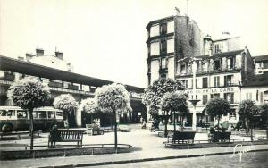 France Colombes railway train station early postcard