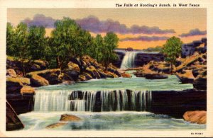 Texas The Falls At Harding's Ranch In West Texas Curteich
