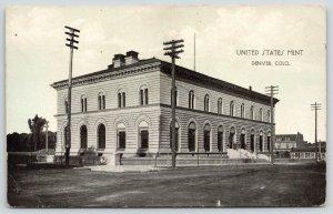 Denver Colorado~United States Mint~Frank Reistle Publisher~B&W~c1910 Postcard