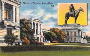Museum of Fine Arts Boston, Massachusetts Postcard