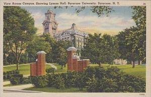 New York Syracuse View Across CAmpus Showing Lyman Syracuse University