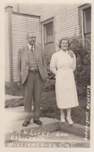 RP: WILLIAMSBURG , Ontario , Canada , 1930s ; Dr. Locke #3