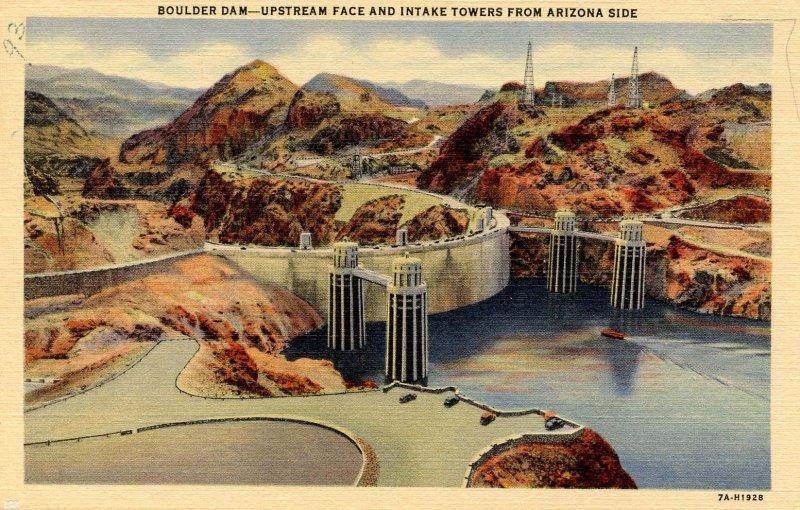 AZ - Boulder Dam Intake Towers on Arizona Side