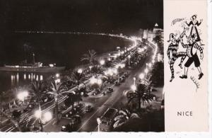 France Nice La Promenade des Anglais la nuit photo