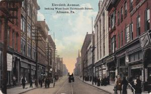 ALTOONA , Pennsylvania, PU-1914 ; 11th Avenue, Looking West from 13th St