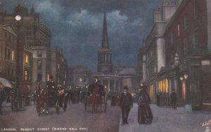 LONDON , England , 1900-10s ; Regent Street at night ; TUCK 6195