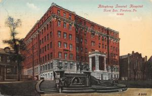 Pittsburgh PA~Allegheny General Hospital~North Side Grand Staircase~1911 PC