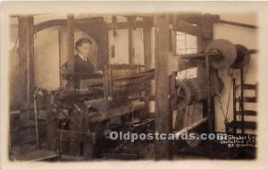 Old Vintage Shaker Post Card Old  Loom Installed 1775 real photo Mount Lebano...