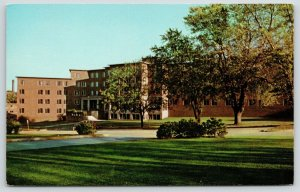 Kalamazoo~Western Michigan University~Corner Shrubs~Siedschlag Hall~1950s