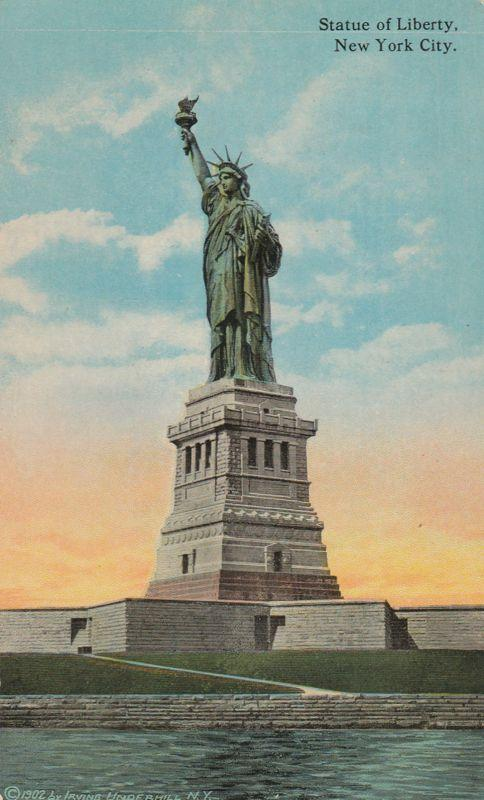 Statue Of Liberty on Bedloes Island - New York City Harbor - DB