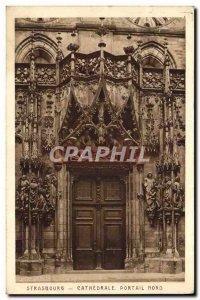 Old Postcard Strasbourg Cathedral North Portal
