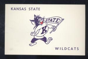 UNIVERSITY OF KANSAS STATE WILDCATS FOOTBALL MASCOT VINTAGE POSTCARD SPORTS