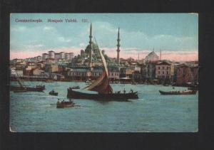 076903 CONSTANTINOPLE Mosque Valide view Vintage PC