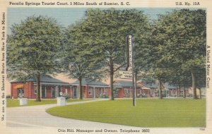 SUMTER, South Carolina, 1930-40s; Pocalla Springs Tourist Court
