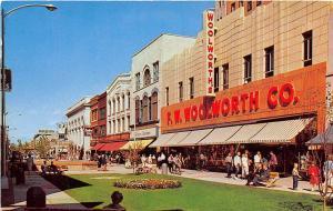 Woolworth Store The Outdoor Mall Kalamazoo Michigan 1960 postcard