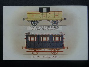 L&Y Railway Official MANCHESTER & LEEDS RAILWAY Carriage 1839 c1905 Postcard