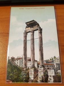 Antique Postcard entitled, Roma - Tempio di Castore e Polluce  Unposted