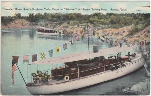 c1910 HOUSTON Texas SHIP Boat Transportation Postcard RUSSARA Bryan Heard