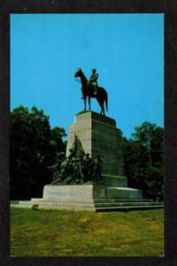 PA Picketts Charge Lee Statue GETTYSBURG PENN Civil War Postcard  Pennsylvania