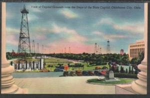 Capitol Grounds State Capitol Okalhoma City OK Postcard 4439