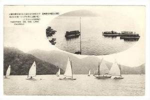 2 Views Sailboats & Steamboats On Lake Chuzenji, Japan, 00-10s
