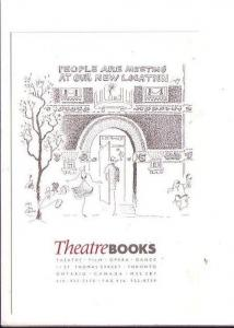 Theatre Books, Toronto, Ontario, Advertising Sketch
