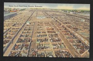 Elevated View Union Stock Yard Pens Omaha Nebraska Unused c1930s