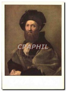 Postcard Modern Italian Painting Raphael Sanzio Portrait Of Baldassare Castig...