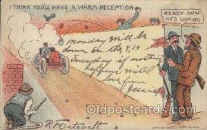 Artist Signed R.F. Outcaust 1906 crease top edge, light crease top right corn...