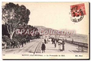 Postcard Old Mention Alpes Maritimes walk noon