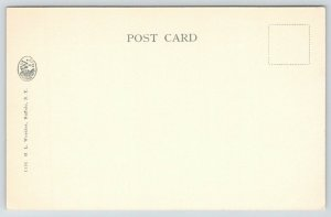 Buffalo New York~Break Wall~Sailing Ships~JA Francios~c1905 Woehler B&W Postcard