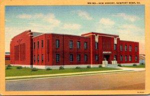 Virginia Newport News The New Armory Curteich