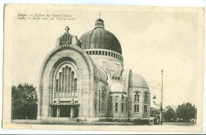 Belgium, Liege, Eglise du Sacre-Coeur, early 1900s unused Postcard