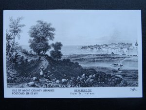 Isle of Wight BEMBRIDGE from St. Helens RP Postcard by Pamlin Series 601