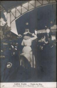 Paris Luna Amusement Park Palais du Rire c1910 Real Photo Postcard