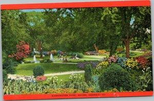 postcard Macon Georgia - Washington Park