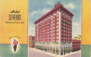 Hotel Severin - Indianapolis IN, Indiana - pm 1948 - Linen