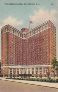 Rhode Island Providence The Biltmore Hotel 1942