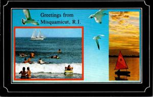 Rhode Island Greetings From Misquamicut Beach Scene