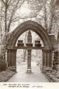 France - Paris, Cluny Museum, 13th Century Gate of the Virgin