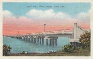 BILOXI , Mississippi, 1930-40s ; Biloxi-Ocean Springs Bridge