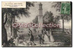Postcard Old Saint Cloud The Diogenes Lantern in 1820 after Develly