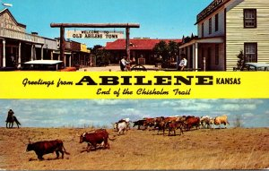 Kansas Greetings From Abilene End Of The Chisholm Trail