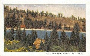 MEEKS BAY RESORT Lake Tahoe, CA Kainer Studios ca 1920s Rare Vintage Postcard