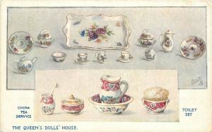 Artist impression C-1910 Royalty Queens Doll House interior Oilette Tuck 4224